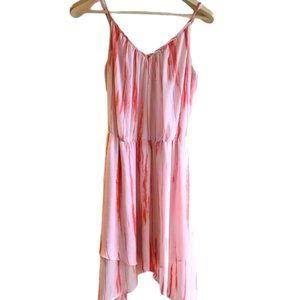 Guess pink and white layered summer dress